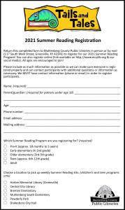 Printable Summer Reading Registration Form